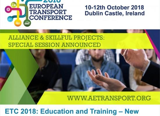 Συνδιοργάνωση ειδικής συνεδρίασης του έργου ALLIANCE στο Συνέδριο ETC2018